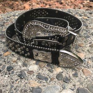 Montana West black jeweled western belt